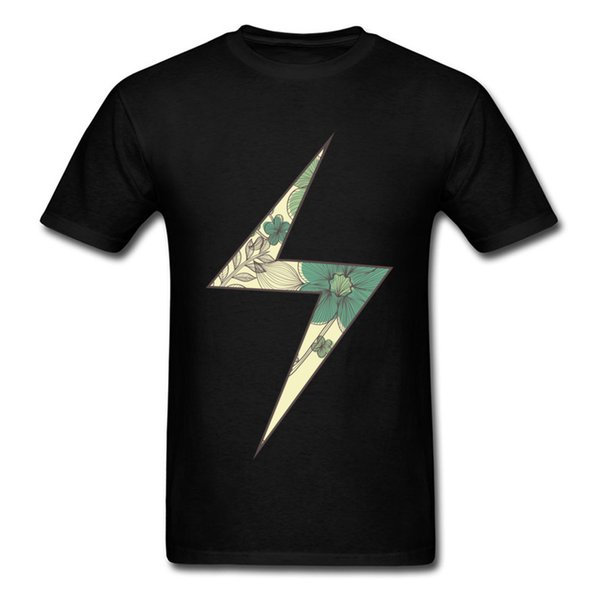 Marvel Lightning Logo T-Shirt Floral Mr Icon All Cotton T Shirt For Men Short Sleeve Tops Shirt Newest Lovers Day T Shirt