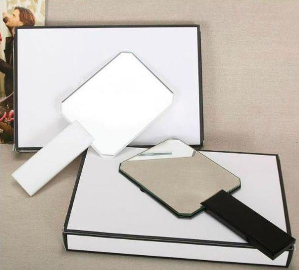 2018 HOT Célèbre modèle Nouvelle mode classique marque acrylique maquillage poignée miroir de haute qualité portable vanity miroir avec boîte-cadeau