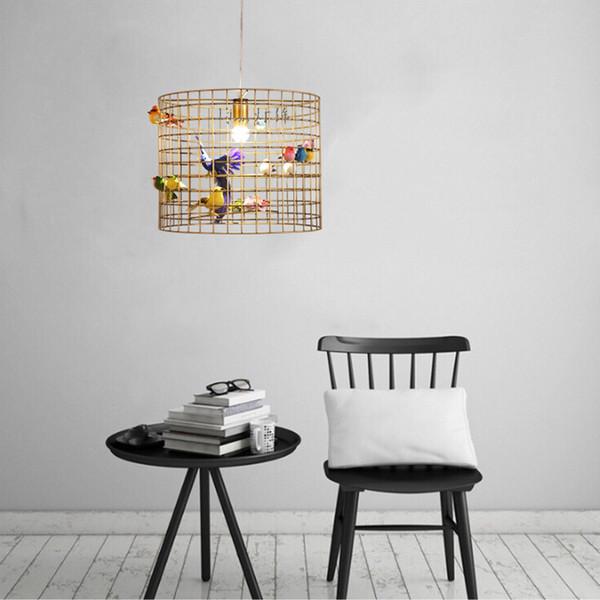 Lampade a sospensione moderne gabbia di gabbia di arte di ferro Negozio di abbigliamento Negozio di caffè Caffetteria creativa Lampade a sospensione Bar Lampade a sospensione Personalità camera da letto
