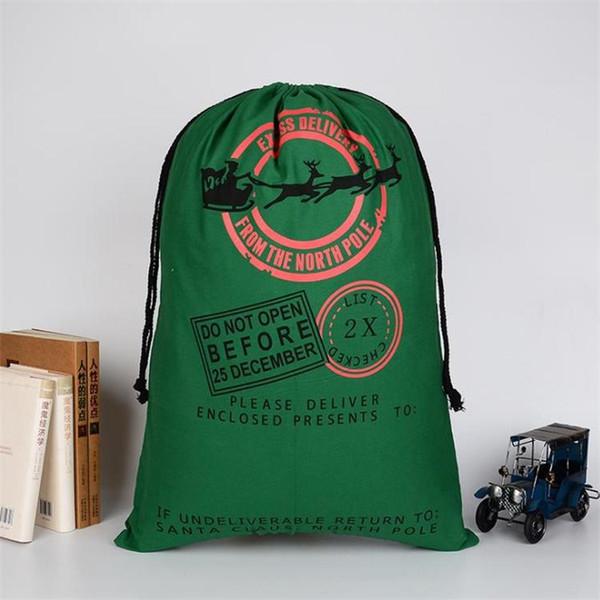 2018 new 26 styles santa sacks wholesale free shipping christmas gift bag canvas santa sack christmas decoration