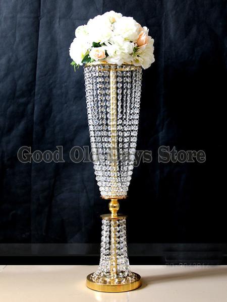 Золото или Sier Хрустальный стол Центральным цветок стенд свадебные центральные 10 шт. / лот