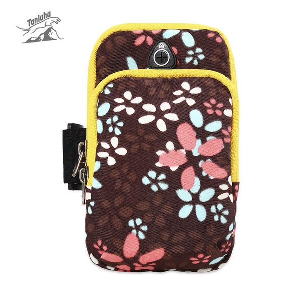 Tanluhu 361 Unisex High-Quality Nylon Bright Color Water Resistant Elastic Strap for Running Cycling Mobile Phone Pouch Arm Bags