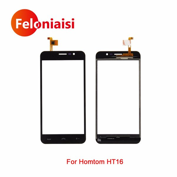"10Pcs/lot High Quality 5.0"" For Homtom HT16 Touch Screen Digitizer Sensor Glass Lens Panel Black +Tracking Code"