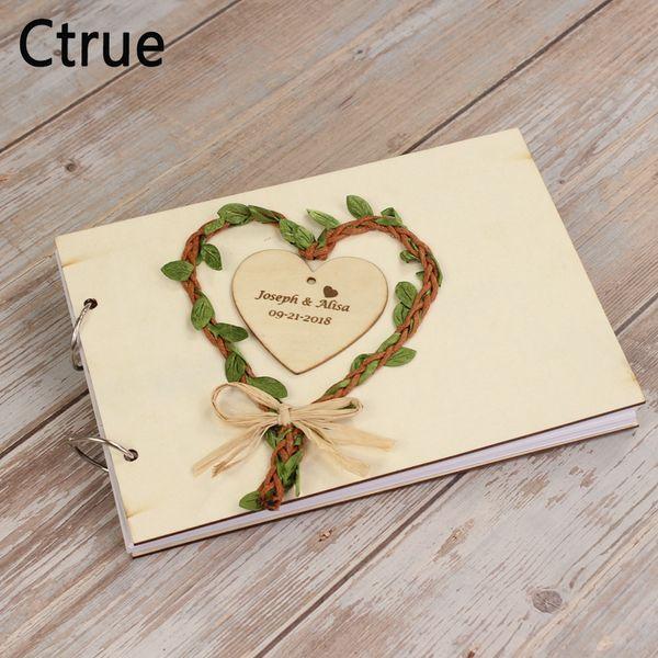Acheter Personnalise Coeur Livre D Or Mariage Mariage Cadeau De Mariage Rustique Pour Couples Personnalise Grave Mariage Vintage En Bois Guestbook De