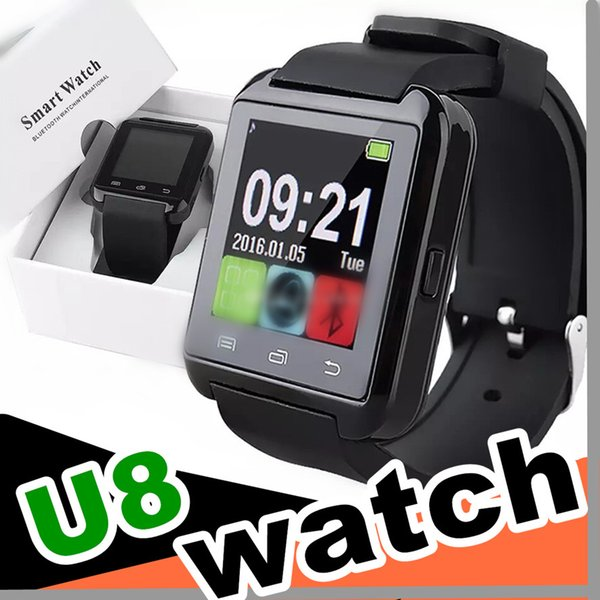 30PCS Factory wholesale cheap U8 smartwatch U8 Bluetooth Smart Watch Phone Mate For Android IOS Iphone Samsung LG Sony With call reminder