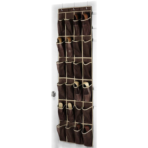 24 Bolsillo de bolsillo Space Door Hanging Organizador Rack Wall Bag Storage Closet Holder