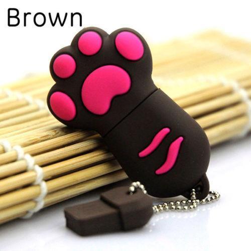hot Genuine USB2.0 Flash Memory Stick Storage Thumb U Disk Pen Drive Cute Cat Claw u253