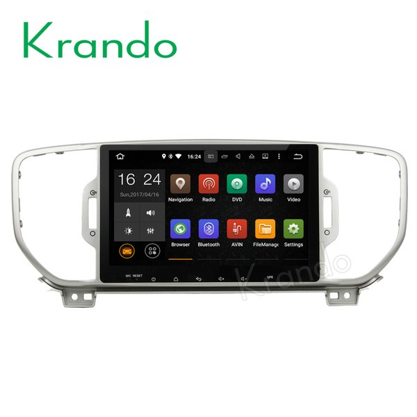 "Krando 10.1"" Android 7.1 full touch car DVD radio multimedia system for Kia Sportage 2016+ audio gps navigation dvd palyer bluetooth"