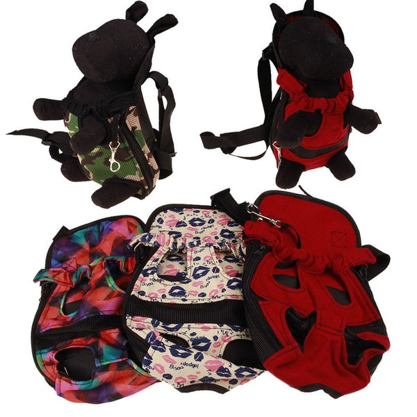 NEW Pet Dog Puppy Canvas Front Carrier Bag Safe Backpack Breathable Travel Carry Tote Bag Free Dropshipping