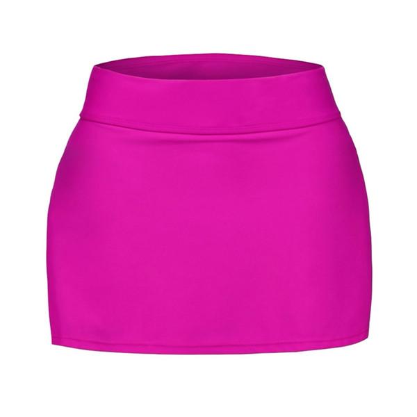 Hot Plus Size Royal Blue Skirted Swim Bikini Bottom Beach Holiday Simple Sexy Split Single Low Waist Skirt Swimwear Skirt