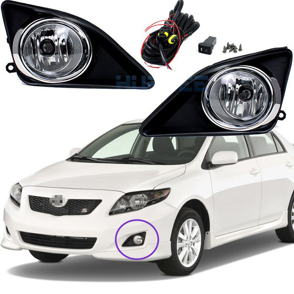 Car Fog Lights for Toyota COROLLA(US Type)/ALTIS 2002-2009 Halogen bulb H11-12V 55W Front Fog Lights Bumper Lamps Kit