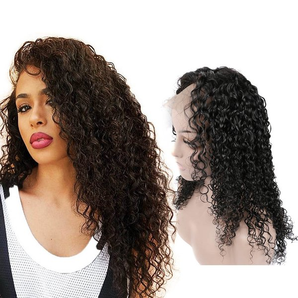 Hot Selling Curly Lace Front Wigs 100% Unprocessed Human Hair Virgin Hair Wigs Pre Plucked With Baby Hair Natural Color