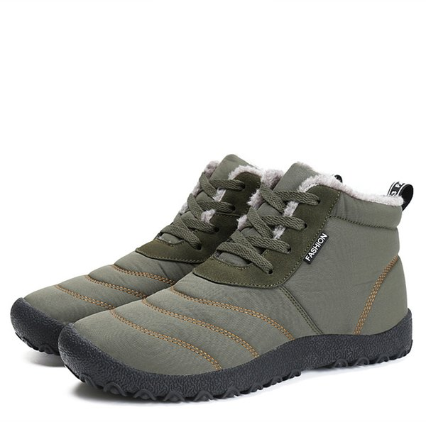Men Casual Ankle Boots Work Hiking Shoes Winter Snow Boots for Men Black Khaki Tan Women Waterproof Outdoor Cotton Shoes Wheat Nubuck Boots