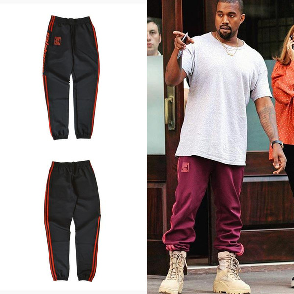 High Quality Kanye Red Casual Pants Season4 Pants Fitness Jogging Fashion Style of Men Women Justin Bieber Hip Hop Clothing Cheap Sale