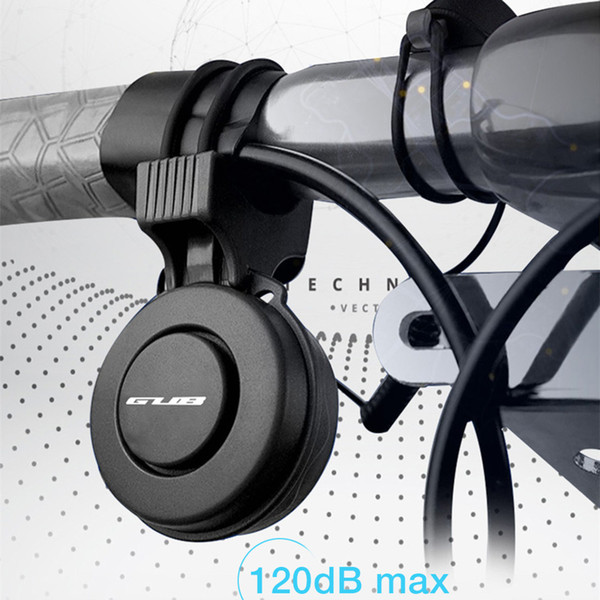 IP65 Cycling Bicycle Handlebar Metal Ring Black Bike Bell 120dB Loud horn Volume Alarm Bicycle Accessory Rechargeable Bell Rings