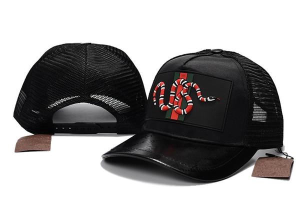 895f3e733f9 New Embroidery Baseball Caps Men Women Summer Mesh Golf Cap Snake Bee Design  Fashion Casual Sun Hat High Quality Snapback Hats Daddy Caps