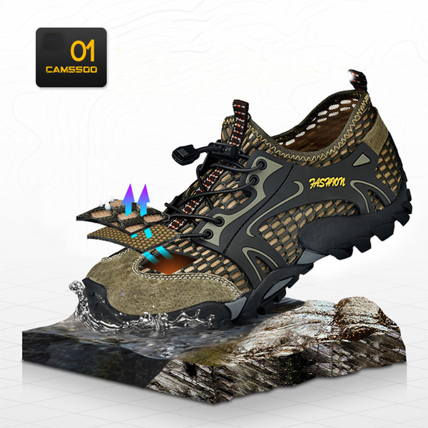 0d7e16852f0a Mens Sports Sandals Summer Leather Outdoor Fisherman Beach Athletics  Walking Hiking Sandals Closed-Toe Sandal
