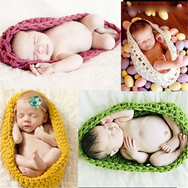 New Arrival Newborn Crochet Baby Costume Photography Props Knitting Baby Hat Infant Photo Props New Born Boy Girl Cute Outfits