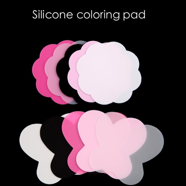 2Pcs/Set Silicone Paint Palette Mat Butterfly Plum Blossom Foldable Washable Nail Art Stamping Pad DIY Manicure Nail Art Tools
