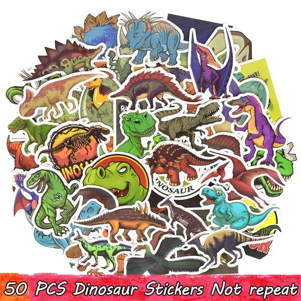 50 PCS Dinossauro Animal Adesivos Bomba Decalques Brinquedos Educativos para Crianças Room Decor Presentes DIY Macbook Laptop Bagagem Skate Garrafa De Água