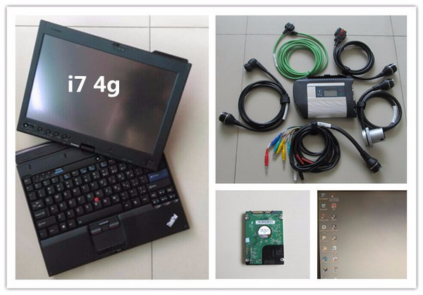 for MB Star Compact 4 full set with laptop x201t I7 4g with 20118.09 SD Connect C4 For CAR AND TRUCK Diagnostic