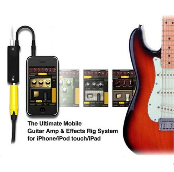 1/2pcs Rig Guitar Link Audio Interface System AMP Amplifier Guitar Effects Pedal Converter Adapter Cable for iPhone iPad iPod