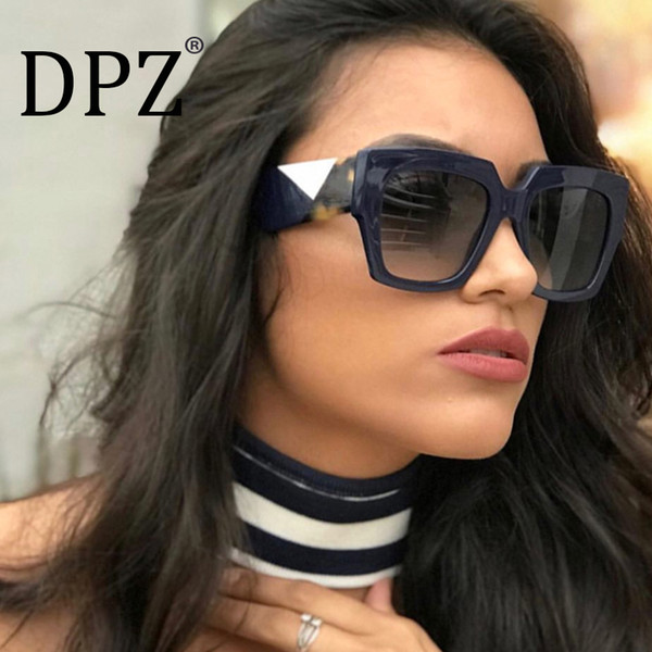6c5b726dd711 DPZ NEW Luxury Sunglasses Women Big Frame Gradient UV400 Sexy Ladies  Sunglases occhiali da sole Fending
