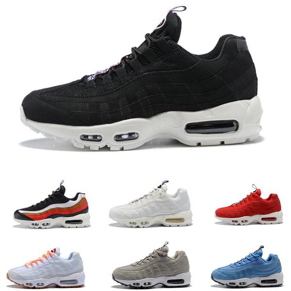 2018 novos homens Airs casuais tênis de corrida 95 preto ouro vermelho 95 s chaussures branco designer trainer Mens Esportes Zapatos Tênis Tamanho 5.5-11