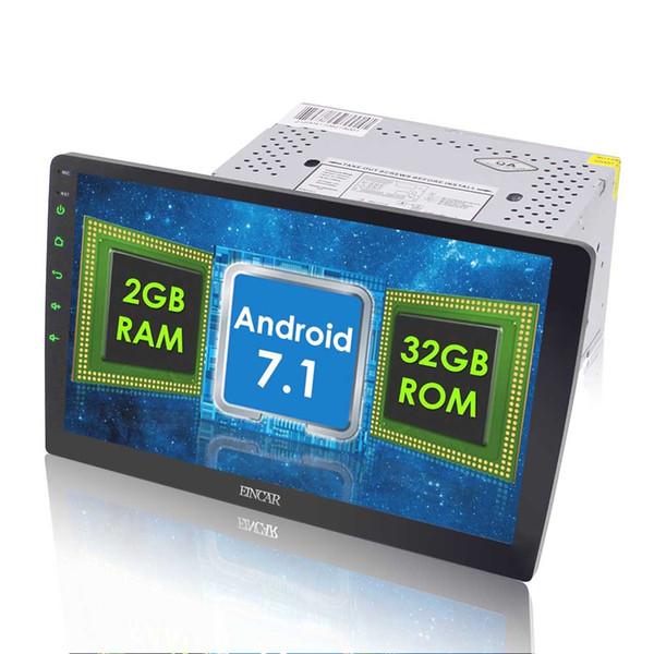 "Eincar 10.1"" 32GB 2GB Android 7.1 Double Din Car Stereo 1024*600 Car Radio DAB Bluetooth Sat Nav Head Unit Adjustable Angle"