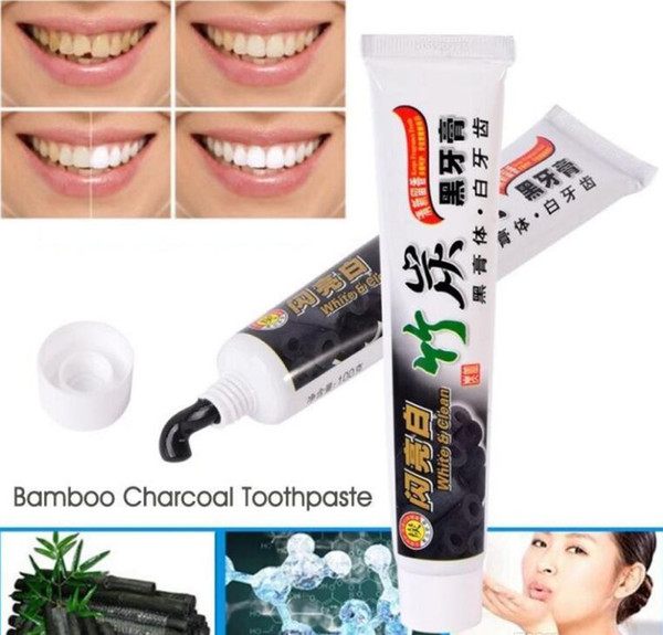 top popular 2017 hot High Quality toothpaste charcoal toothpaste black tooth paste bamboo charcoal toothpaste oral hygiene tooth paste 2021