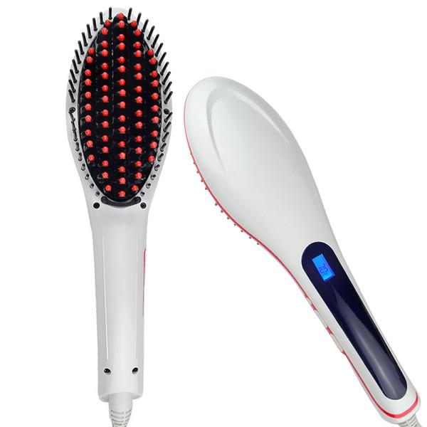 Enderezar pelo peine caliente peines de plástico del pelo Massager LCD Display Fast Straightener peine venta caliente
