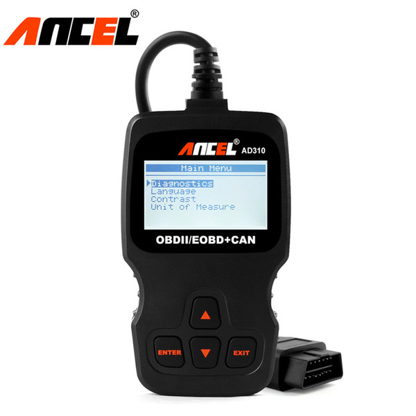 5pcs/lot AD310 OBD OBD2 Scanner Automotive Clear Error Code Reader support Portuguese Spanish Russian Better Than ELM327