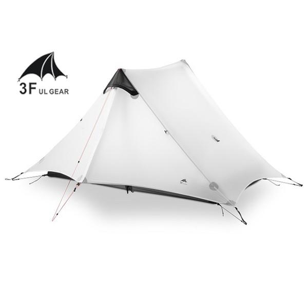 2018 LanShan 2 3F UL GEAR 2 personnes tente de camping ultraléger Oudoor 3 Season Professional 15D Silnylon Rodless Tent