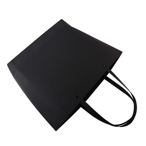 42*46cm+12cm Black card Kraft paper portable Thicken Ship type Rivets Trapezoidal the mall Fashion clothing Custom gift Advertising Bags