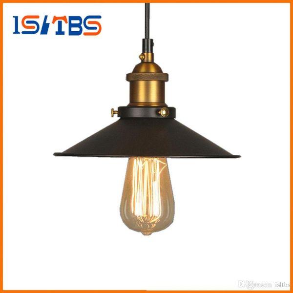 Vintage Industrial Lighting Copper Lamp Holder Pendant Light American Lampshape Aisle Lights Lamp Edison Bulb 110V-220V