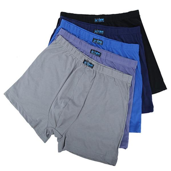 3pcs Fat Large L- 5XL 6XL 7XL 8XL Mens Boxer Shorts Men Underwear Long Solid Underpants Boxers Panties Male Cueca Calzoncillos