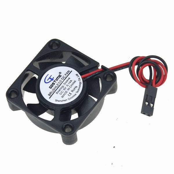 cooling fan Gdstime 10pcs 5V Dupont 2Pin 40x40x10mm 4cm 40mm Mini Small DC Brushless Cooling Fan