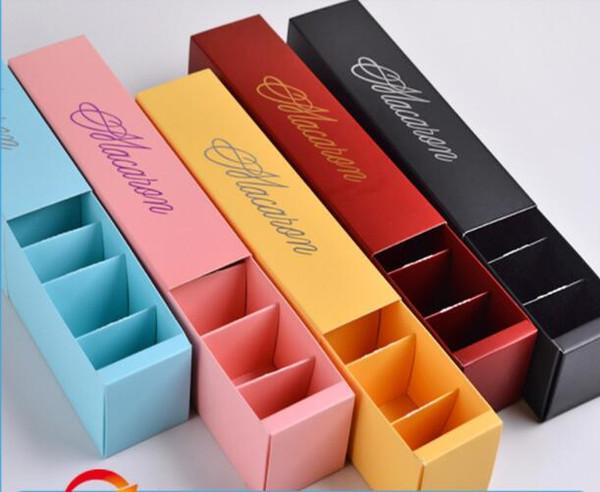 hot sale 300pcs/lot Home made macaron black blue green macaron box biscuit cupcake box Free Shipping