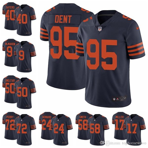 hot sale online ad61f 1ff15 2018 Chicago Limited Football Jersey Bears Navy Blue Rush Vapor Untouchable  52 Khalil Mack 10 Mitchell Trubisky 54 Brian Urlacher 14 From Ptbunion3, ...