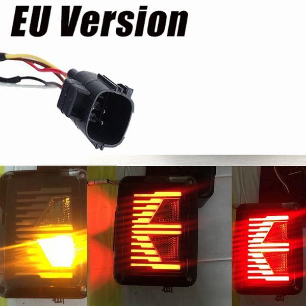top popular 1pair Smoked LED Tail Lights 2007-2017 For Jeep Wrangler Tail Light Brake Reverse Light Rear Back Up Turn Singal Lamp Daytime 2021