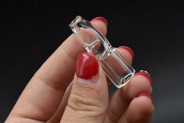 Gruesas puntas de filtro de vidrio de 1,5 pulgadas de diámetro y 12 mm para papel de liar de tabaco de hierbas secas con tabaco para fumar cigarrillos Tubos de fumar de vidrio
