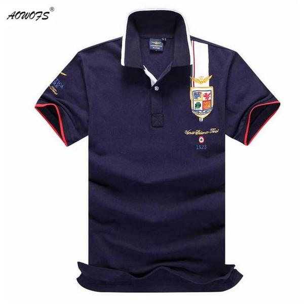 Mens Summer 2017 Breathable One Polo Embroidery Lapel Polo Shirt Fashion Man  Polos KJ#06
