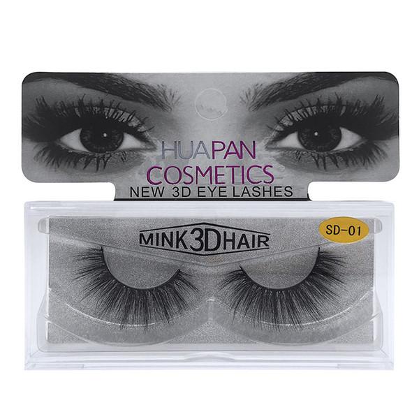 3D Mink Eyelashes Eyelashes Messy Eye lash Extension Sexy Eyelash Full Strip Eye Lashes False Eyelashes Free DHL 443