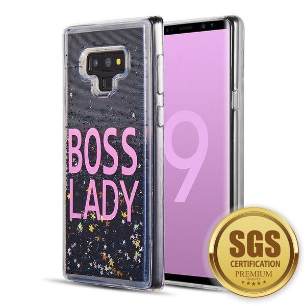 64da1c1ecd4 Funda trasera para Samsung Galaxy Note 9 Waterall Liquid Sparkling  Quicksand Funda protectora de silicona TPU
