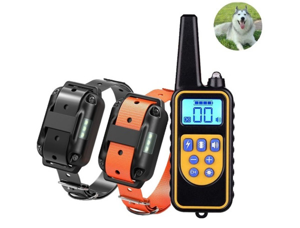 2018 Waterproof Rechargeable Remote Control Dog Training Collar LCD Display dog training devices pet dog supplies