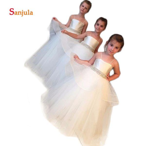 Spagetti Strap Girls Tulle Dress
