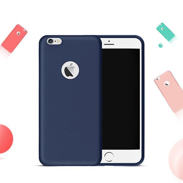 Coque d'origine matte skin pour Coque iPhone 6 TPU en caoutchouc, coque de protection arrière pour iPhone 6 6S 7 Plus 5 5S SE, étui en silicone souple