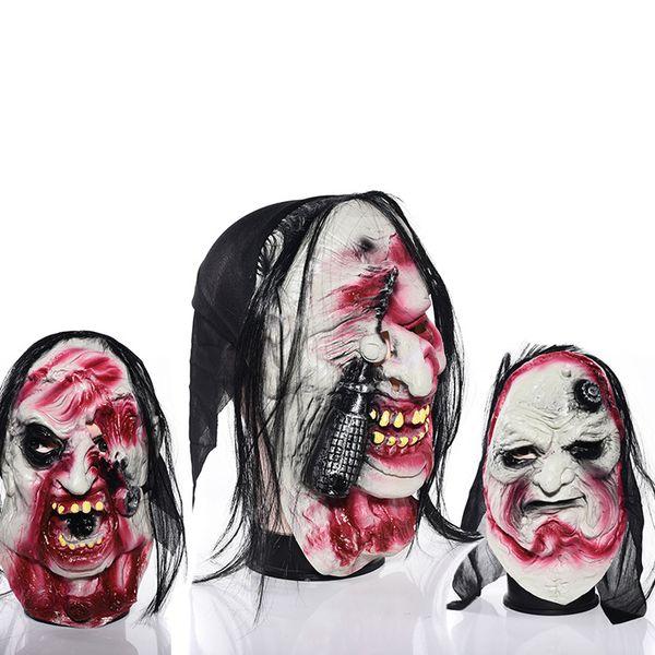 Halloween Halloween Masquerade Mask Horror Face Latex Headgear Whole Zombie Demon Mask