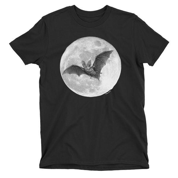 Camiseta para hombre Moonlight Bat Creepy Nightmare HALLOWEEN Trick or Treat Gift