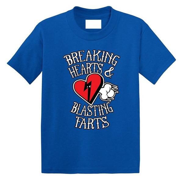 Очень крутые футболки с коротким рукавом Подарочные мужские шеи с круглым вырезом Разорвать сердца и взрывные рубашки пукает
